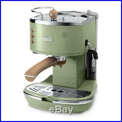 Delonghi Icona Vintage ECOV 311 Coffee Machine 220V 1000W Auto-Off FreeUPS Green