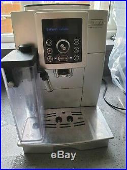 Delonghi bean to cup ECAM23.450. S espresso coffee machine black silver GWO