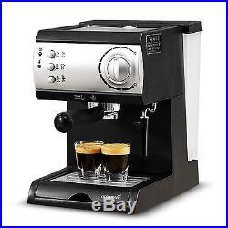 Electric Semi-Automatic Espresso Machine Coffee Maker Latte Cappuccino Steamer