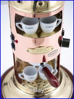 Elektra Mini Verticale A1 Espresso Coffee Maker Machine Copper&Brass Finish 110V