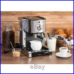 Espresso Coffee Machine 15 Bar Electric Milk Frother 1470W 6 cups Home Silver