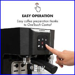 Espresso Coffee Machine Commercial Electric 1450 W 20 Bar Milk Frother Black