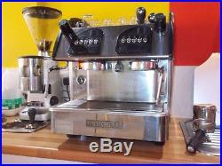 Expobar espresso 2 group coffee machine with 2 milk jugs