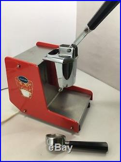 Fantastic Junex Hand Lever Coffee Machine Espresso Red Acrylic Chrome Vintage