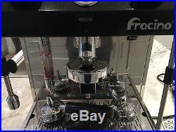 Fracino'Little Gem' Espresso Coffee Machine Black & Stainless Steel Must See