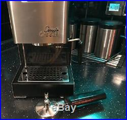GAGGIA CLASSIC Espresso Coffee Machine with Frother / Steamer in Stainless Steel