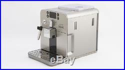 Gaggia Brera Bean to Cup Espresso Coffee Machine With Milk Frother Silver
