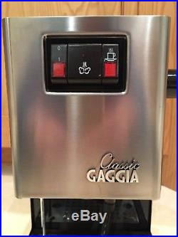 Gaggia CLASSIC Manual Espresso Coffee Machine, with Milk Frother