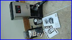 Gaggia Classic 2 Cups Espresso Machine chrome with coffee grinder and milk jug