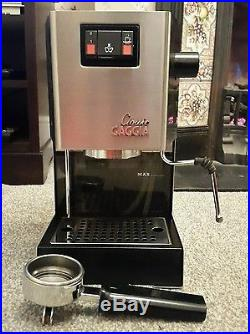 Gaggia Classic 2 cups espresso coffee machine stainless steel great condition