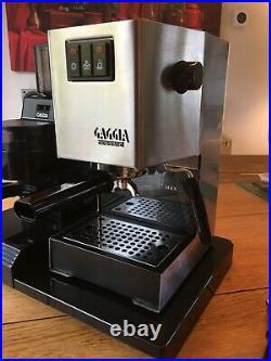 Gaggia Classic Coffee Machine and Gaggia MDF Grinder on genuine Gaggia base