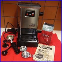 Gaggia Classic Espresso 2 Cup coffee machine s'less steel 1300w v. Gd condition