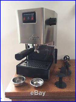 Gaggia Classic espresso coffee machine, Made in Italy, 1300 watt stainless steel