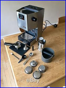 Gaggia Classic espresso coffee machine and kit