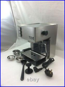 Gaggia Espresso Coffee Machine Cubika Barista Style With Large & Small Baskets