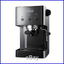 Gaggia Gran Style Manual Espresso Coffee Machine, 15 Bar Pressure Black