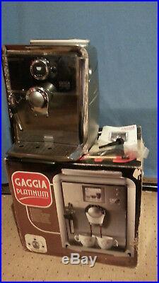 Gaggia Platinum Vogue Espresso / Coffee Machine Bean 2 Cup Super Automatic