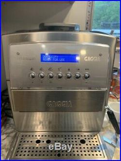 Gaggia TITANIUM STAINLESS STEEL COFFEE, ESPRESSO & CAPPUCCINO MACHINE SILVER