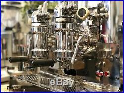 Gaggia Vintage Lever 2 Group Espresso Coffee Machine And Grinder Cafe Restaurant