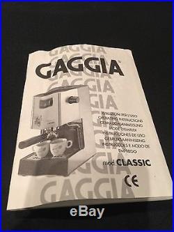 Gaggia classic coffee machine cappuccino espresso