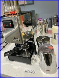 Gaggia classic coffee machine silver, used