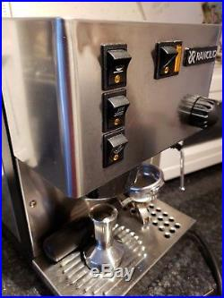 Italian Rancilio Silvia Espresso Coffee Machine with accessories (sump, tamper)