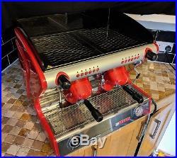 Italian commercial coffee machine 2 group sanremo Milano red espresso machine