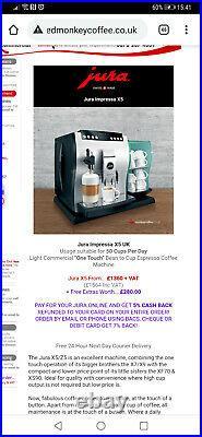 JURA IMPRESSA Z5 / X5 Coffee Machine Bean to cup Cappuccino Barely Used