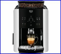 KRUPS Arabica Manual Espresso EA811840 Bean to Cup Coffee Machine Black & Silver