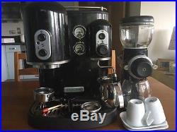 KitchenAid Artisan Coffee Burr Grinder & Espresso Machine in Black