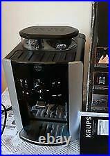 Krups Arabica Espresso Ea811840 Bean To Cup Coffee Machine Black & Silver