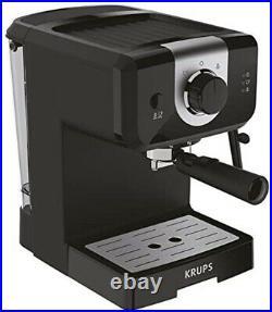 Krups XP320840 NEW Opio Steam & Pump Ground Coffee Machine Expresso Maker Black