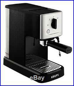 Krups XP344040 Calvi Manual Espresso Steam and Pump Coffee Machine, 1500 W, Blk