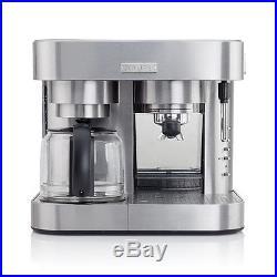Krups XP604050 Coffee Maker Espresso Machine 10 Cup Combo Silver (Refurbished)