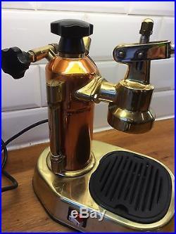 LA PAVONI EUROPICCOLA Espresso Coffee Machine Copper & Brass 99p Start