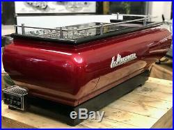 La Marzocco Fb70 3 Group Red Espresso Coffee Machine Cafe Latte Commercial Beans