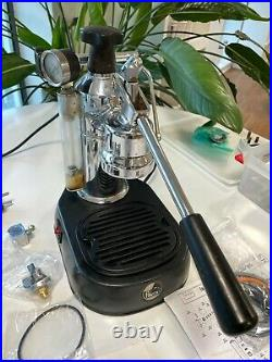 La Pavoni Europiccola Espresso Coffee Machine, tamper & 2 portafilters