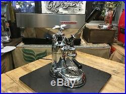 La Pavoni Leva Milano 1 Group Chrome Brand New Espresso Coffee Machine Latte Cup