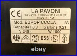 La Pavoni Machine Coffee With Pump Express Europiccola Luxury Chrome
