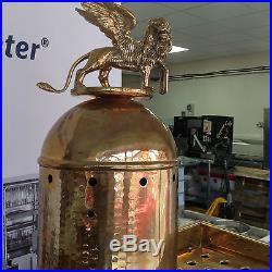 La San Marco 3 Group Automatic Coffee Machine Brass Cappucino Latte Espresso
