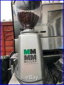 La spaziale S2 Commercial espresso machine and Mazzer coffee grinder