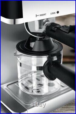 Livivo Black Pro Electric Espresso Cappuccino Coffee Maker Machine Home Office