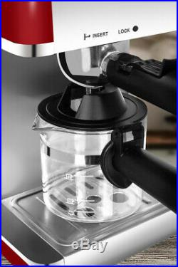 Livivo Red Pro Electric Espresso Cappuccino Coffee Maker Machine Home Office