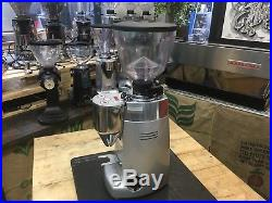 Mazzer Kony Electronic Espresso Coffee Grinder Machine Silver Conical Cafe Beans