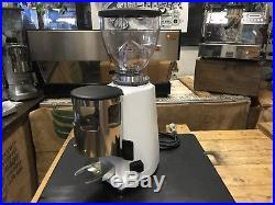 Mazzer Mini Manual White Professional Espresso Coffee Grinder Back Up Machine