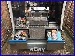 Mobile Coffee Trailer van Fracino espresso machine business generator catering
