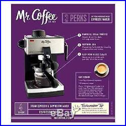 Mr. Coffee 4-Cup Steam Espresso Maker Machine Cappuccino Latte with Frothing New