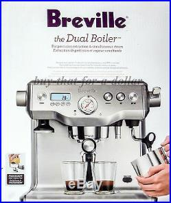 NEWBreville BES920XL Dual Boiler Latte Espresso Cappuccino Coffee Machine Maker