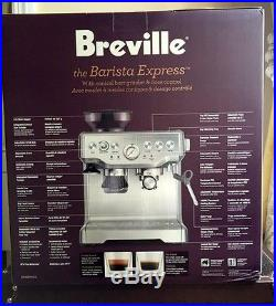 NEW Breville the Barista Express StainlessSteel Espresso Coffee Machine BES870XL