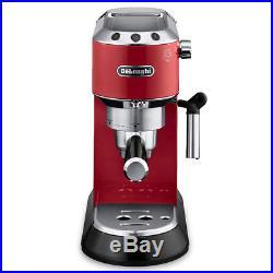 NEW DeLonghi Dedica Pump Espresso Red Coffee Machine